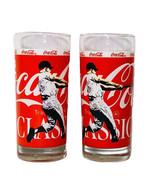 "Coca-Cola Classic New York Yankees Baseball 6.25"" Glass Coke (2 Pack) NOS - £13.09 GBP"