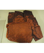 Designer Box of Material Red Various Sizes Satin Fabric - $29.37