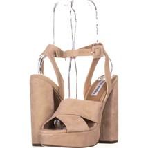 Steve Madden Jodi Platform Sandals 848, Blush SUede, 6.5 US - $35.51