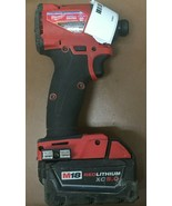 """MILWAUKEE 1/4"""" HEX IMPACT DRIVER W/ CHARGER 2853-20 #107249-11 C - $128.69"""