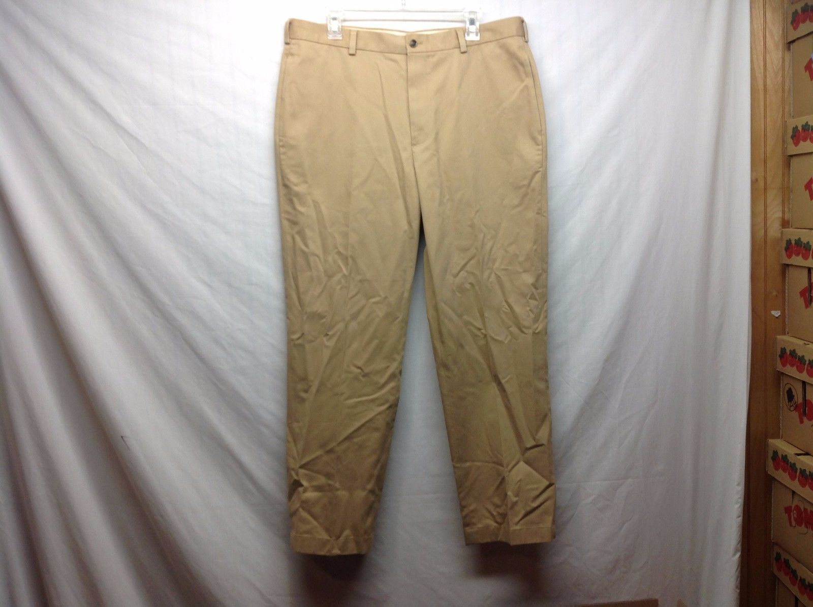 Brooks Brothers Beige Cotton Dress Pants Sz W36 L30