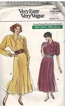 7607 Vintage Vogue-Schnittmuster Misses Wickelkleid Raglanärmel Sehr Ein... - $7.91