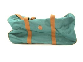 Vtg Polo Ralph Lauren Green Canvas Duffle Bag Overnight Weekender Rollin... - $29.65