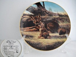 The Red Wolf Endangered Species Porcelain Collector Plate - $19.89