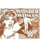 Wonder Woman Comic Art Figure Name & Chest Logo Duotone Tin Sign Poster NEW - £4.31 GBP