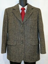 Donegal Tweed  Magee Womens Blazer Handwoven Green Herringbone Flecked 1... - $94.99