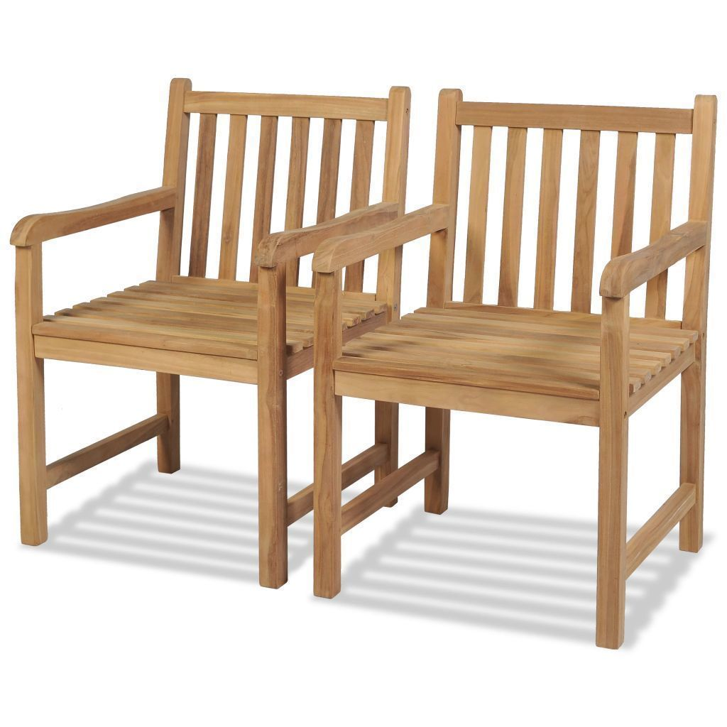 Teak Outdoor Chairs 2 pcs
