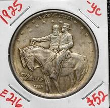 1925 Stone Mountain Silver Commemorative Half Dollar Coin Lot# E 216