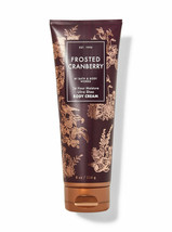 Bath & Body Works FROSTED CRANBERRY Ultra Shea Body Cream 8oz New - $16.78