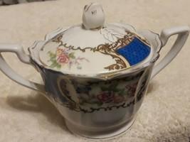 Vintage GoldCastle Japanese Bone China Sugar Bowl beautiful details flor... - $8.46