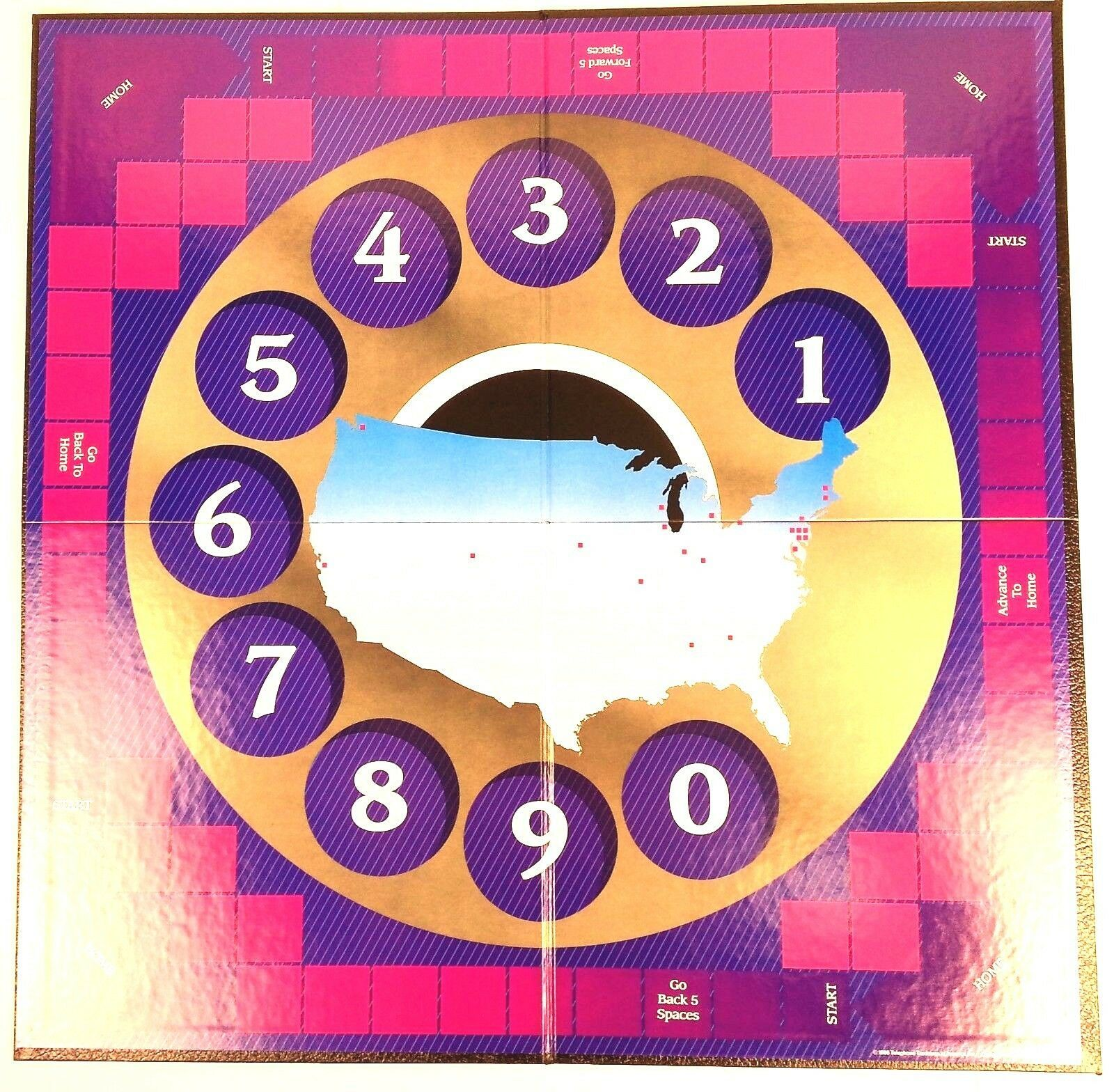 Telephone Trivia Board Game 1986 COMPLETE Telephone Traditions of America TT & A