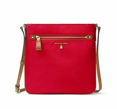 Michael Kors Kelsey Nylon Crossbody Messenger Bag, Bright Red - $49.50