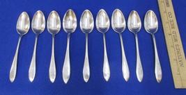 JS Co Sterling Silver 5 O'Clock Teaspoons Lot of 9 Vintage Flatware 186 ... - $184.14