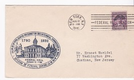 Washington's Bicentennial Federal Congress New York, Ny August 12, 1932 - $3.36