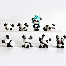 8 pcs 1 set Cute Panda Toys Figurines Playset, Cake Decoration - $10.53