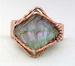 Quartz Crystal Pyramid Copper Wire Wrap Gemstone Ring 1 - $10.29