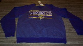 MINNESOTA VIKINGS NFL FOOTBALL CREW EMBROIDERED SWEATSHIRT MEDIUM NEW w/... - $39.60