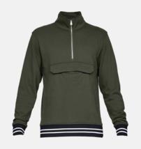 Under Armour Mens UA Be Seen Terry 1/4 Zip Sweatshirt 1341683 Downtown G... - $40.78