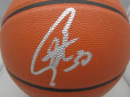 STEPHEN CURRY / G.S. WARRIORS / AUTOGRAPHED FULL SIZE NBA LOGO BASKETBALL / COA image 2