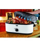Oster 16-Quart Roaster Oven with Self-Basting Lid, White - $79.99