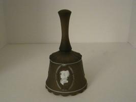 VINTAGE WESTMORELAND BROWN SATIN HANDPAINTED BELL.... - $11.99