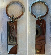 Coach 2 GB Gigabyte USB Keychain Key Fob 61190 Silver NWT - $39.00