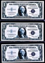 1935 E Three (3) $1 SILVER CERTIFICATE CONSECUTIVE NOTES FR. 1614  UNCIR... - $74.49