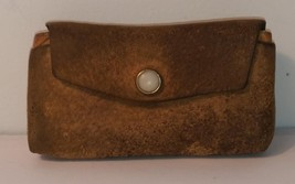 Vintage Primitive Handmade Stitched Leather Folk Art Belt Shell Holder Awesome!!