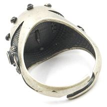 925 SILVER RING, BURNISHED AND SATIN, RUDDER, NAUTICAL ROPE, NAVY DIVER image 4