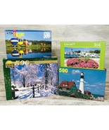 3 Sealed Puzzles Snowmass CO Hilton Head Lighthouse Winter 500 504 Pc Da... - $21.99