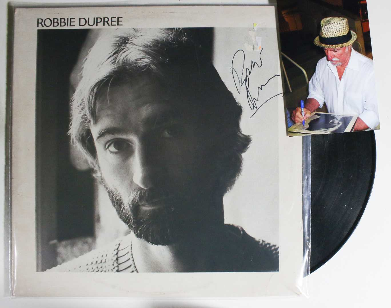 Primary image for Robbie Dupree Signed Autographed Record Album w/ Proof Photo