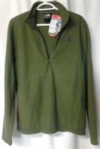 New The North Face Mens TKA 100 Glacier Fleece 1/4 Zip Green Pullover Ja... - $18.46