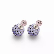 Auth Christian Dior Mise En Dior Purple Pink Esprit Tokyo Tribal Pearl Earrings  image 7