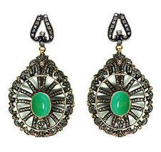 Victorian 3.82ct Rose Cut Diamond Gemstone Women's Earrings Shop Early &... - $683.65