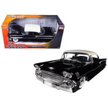 1958 Chevrolet Impala Black Showroom Floor 1/24 Diecast Model Car by Jad... - $37.75
