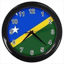 Solomon Islands Flag Wall Clock - $18.61