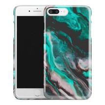 Casestry | Green And Black Marble Watercolor Ocean | iPhone 7 Plus Case - $11.99
