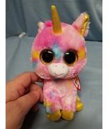 "Ty Beanie Boo Fantasia the Unicorn 16"" Plush  - $23.17"