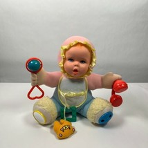 Vintage Gerber Plush Baby Doll with Rattles 1994 Activity Toy Biz 11 Inches - $14.99