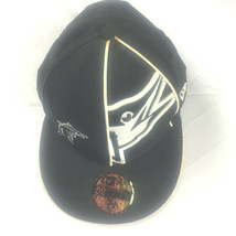 New Era 59 Fifty Baseball Hat Black & White Florida Marlins Fitted 7 3/8 Genuine - £8.94 GBP