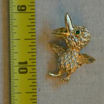 Vintage jewelry signed Gerry's green rhinestone bird animal brooch pin - $9.89