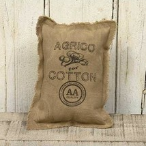 """AGRICO COTTON"" BurlapTabletop Pillow FARMHOUSE COUNTRY DECOR - £18.92 GBP"