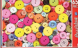 Colorful Pastel Buttons - Puzzlebug - 650 Pieces Jigsaw Puzzle - $9.50