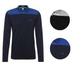 Hugo Boss Men's Premium Stretch Cotton Slim Fit Long Sleeve Polo Shirt 50326327