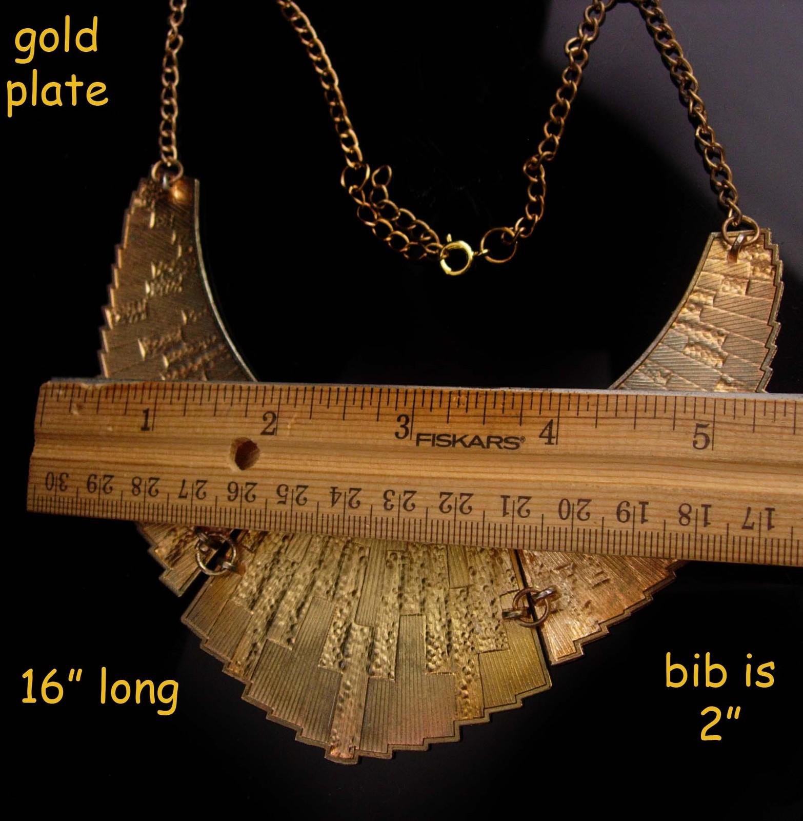 Vintage Cleopatra necklace - gold & Enamel statement collar - Goddess jewelry -