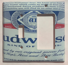 Budweiser Beer Bud Cans Light Switch Outlet Wall Cover Plate Home Decor image 6