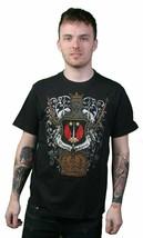Dragonfly Hollywood Greifen Bestickt Krone Familie Crest T-Shirt
