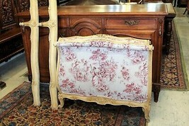 Antique  French Painted & New Upholstered  Louis XV Day Bed & Rails 1880  - $1,334.00