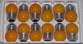 7.5 Watt S11 Ceramic Orange Indicator Lamps 12 Pack - $16.99