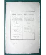 "1826 PENMANSHIP Ship Insurance & Bill of Exchange - 12"" x 18"" Superb Pri... - $26.96"